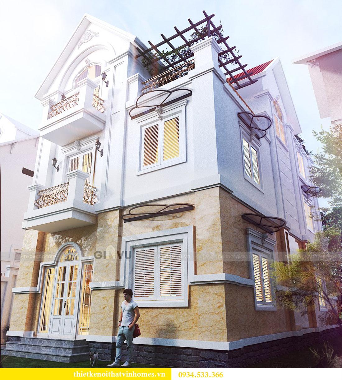 Thiết kế nội thất biệt thự Vinhomes Harmony 3