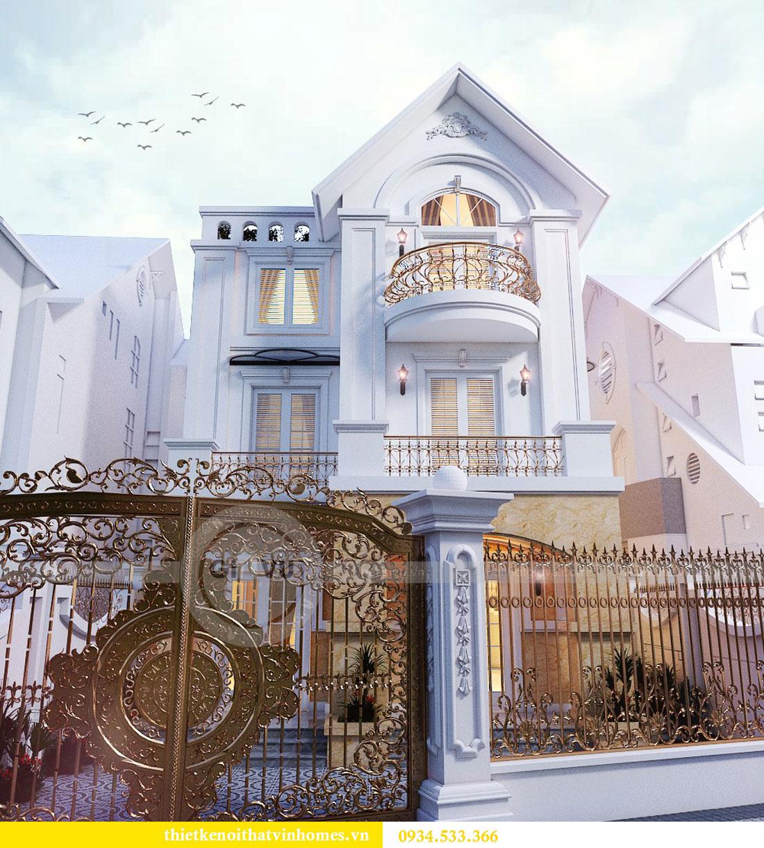 Thiết kế nội thất biệt thự Vinhomes Harmony 4