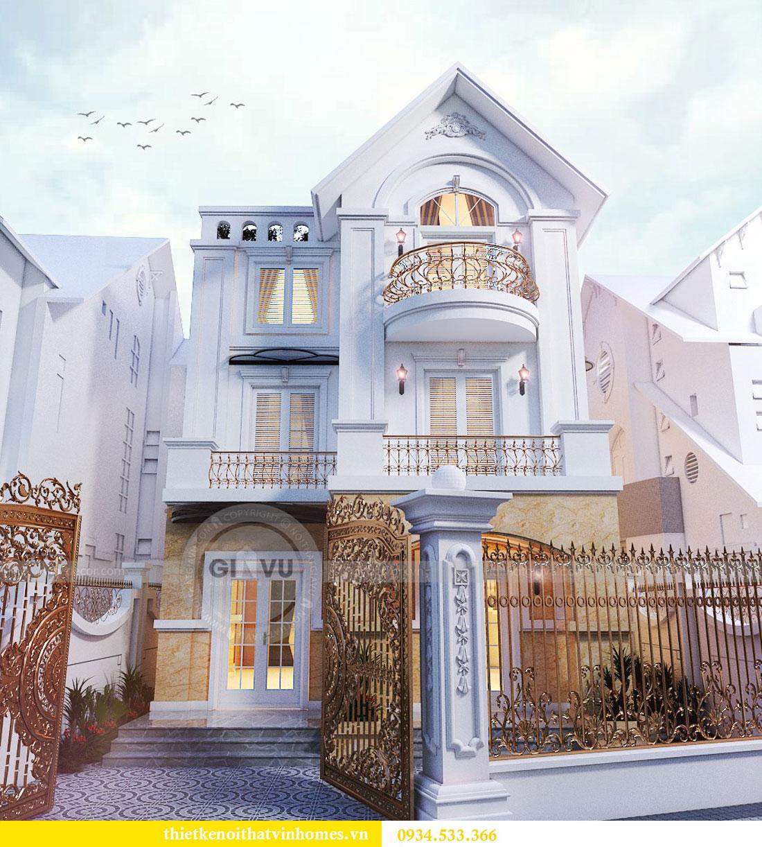 Thiết kế nội thất biệt thự Vinhomes Harmony 5