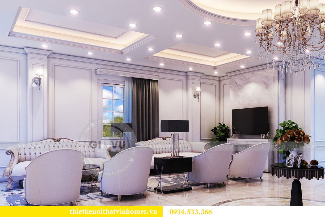 Thiết kế nội thất biệt thự Vinhomes Harmony 6