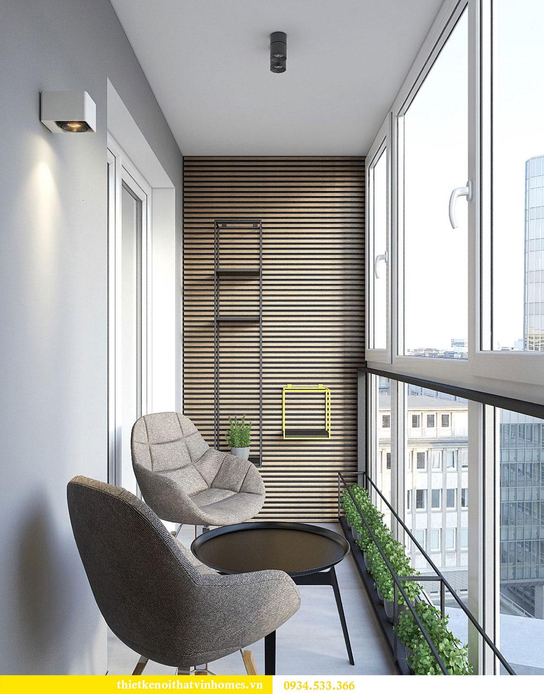 Thiết kế nội thất biệt thự Vinhomes Thăng Long 18