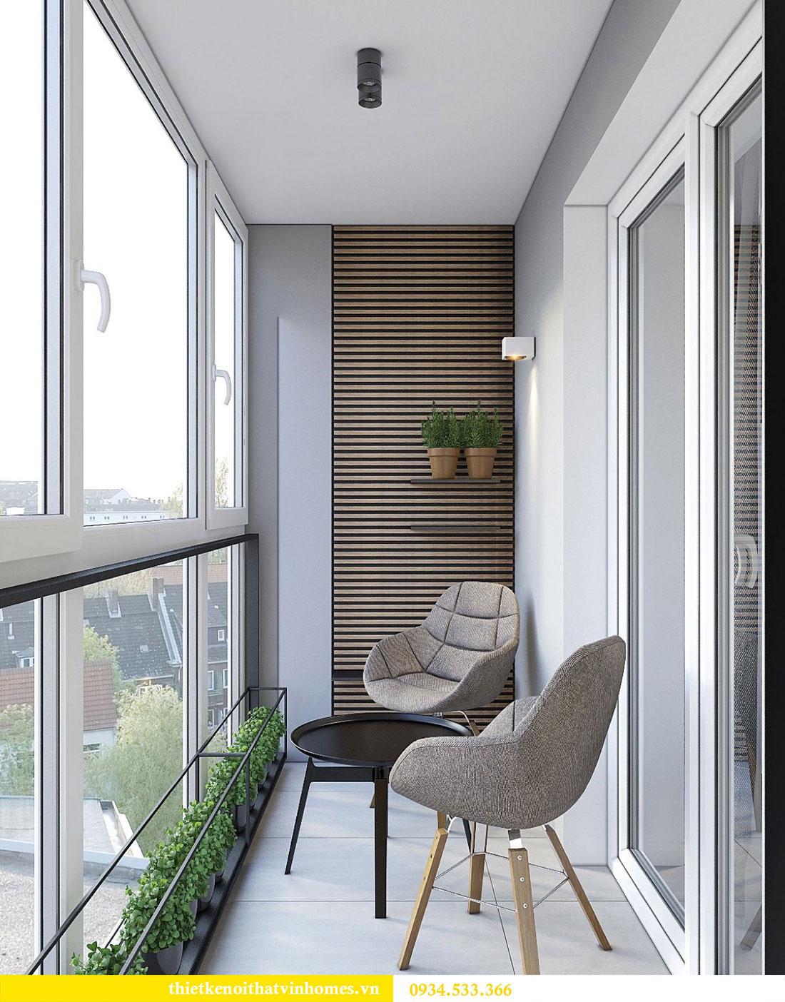Thiết kế nội thất biệt thự Vinhomes Thăng Long 19