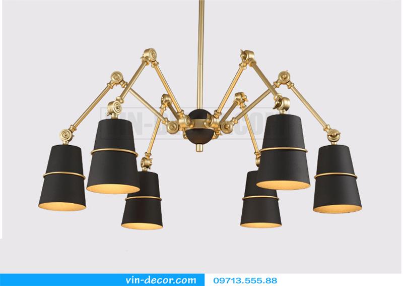 đèn chùm chân nhện nghệ thuật 04