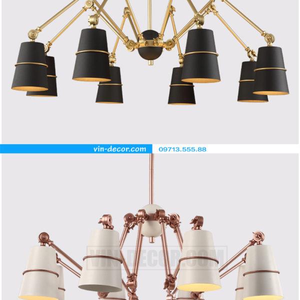 đèn chùm chân nhện nghệ thuật 08