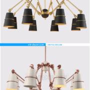 đèn chùm chân nhện nghệ thuật 09