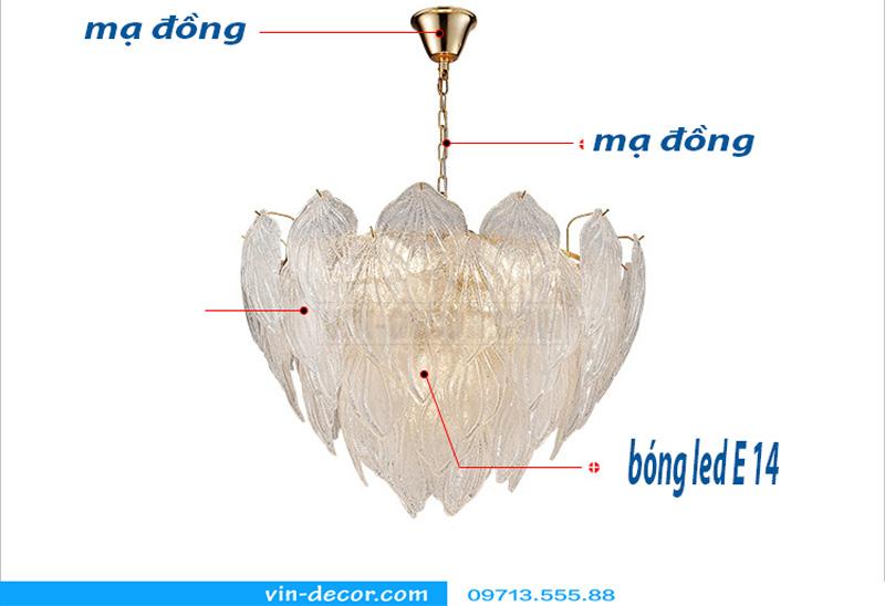 đèn chùm độc đáo nghệ thuật MD 874 04