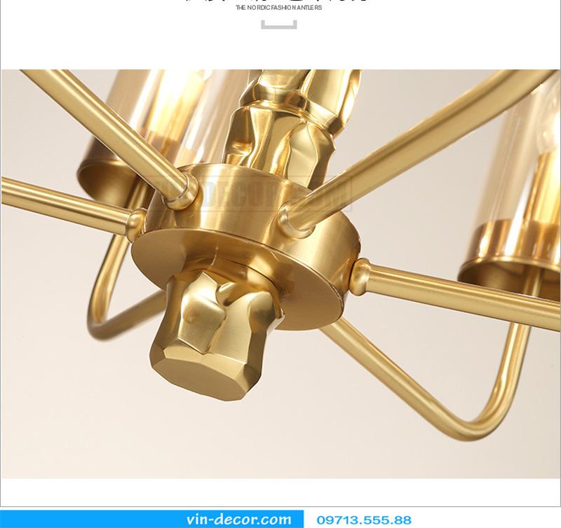 đèn chùm mạ vàng nghệ thuật MD 3105 04