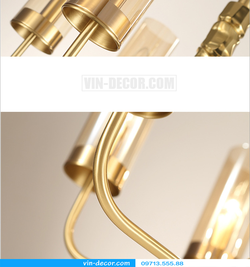 đèn chùm mạ vàng nghệ thuật MD 3105 05