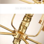 đèn chùm mạ vàng nghệ thuật MD 3105 06
