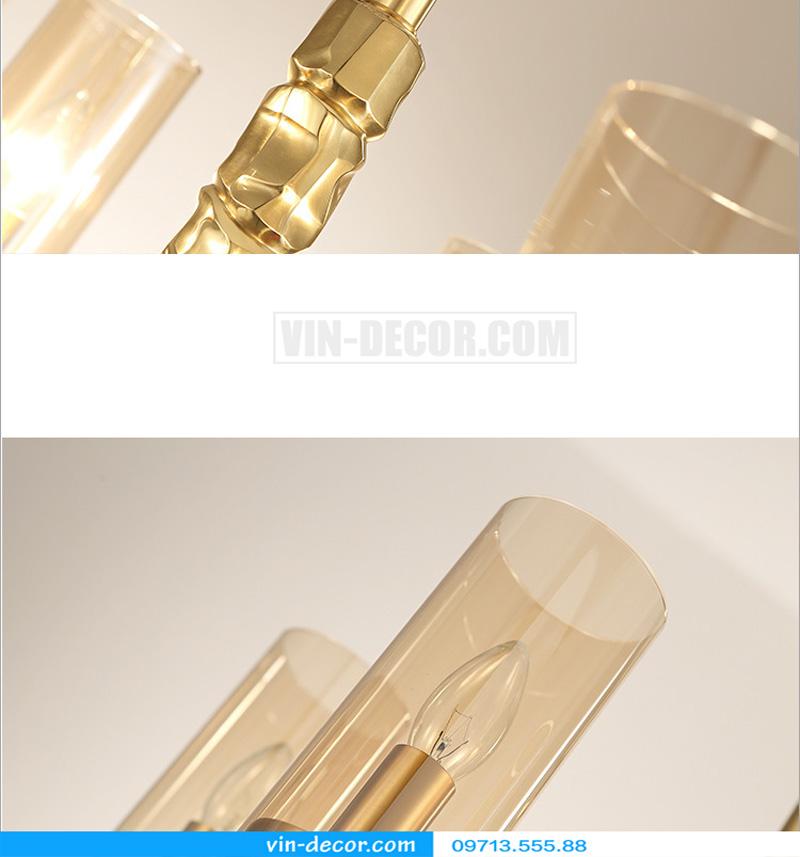 đèn chùm mạ vàng nghệ thuật MD 3105 07
