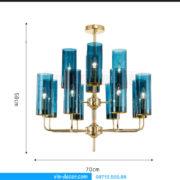 đèn chùm nghệ thuật sang trọng MD 8047 05