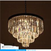 đèn chùm pha lê Penthouse độc đáo 03