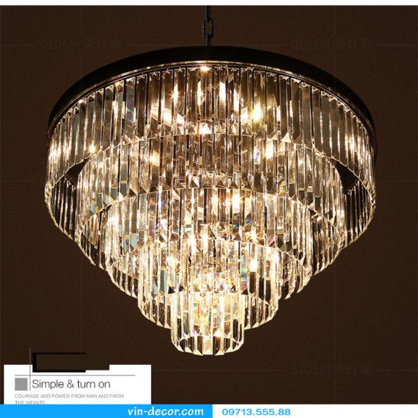 đèn chùm pha lê Penthouse độc đáo 04