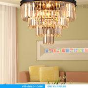đèn chùm pha lê Penthouse độc đáo 05