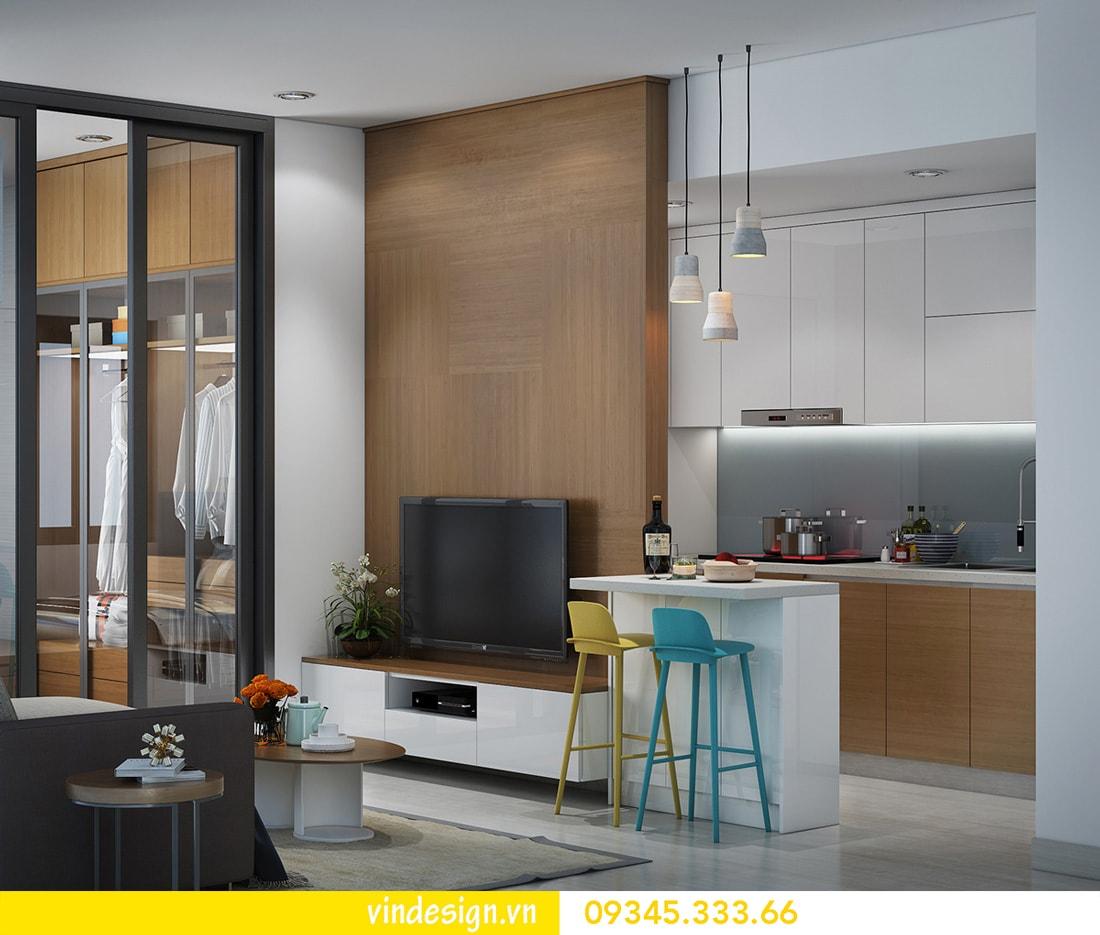 thiết kế nội thất căn 1 phòng ngủ vinhomes metropolis liễu giai ba đình 03