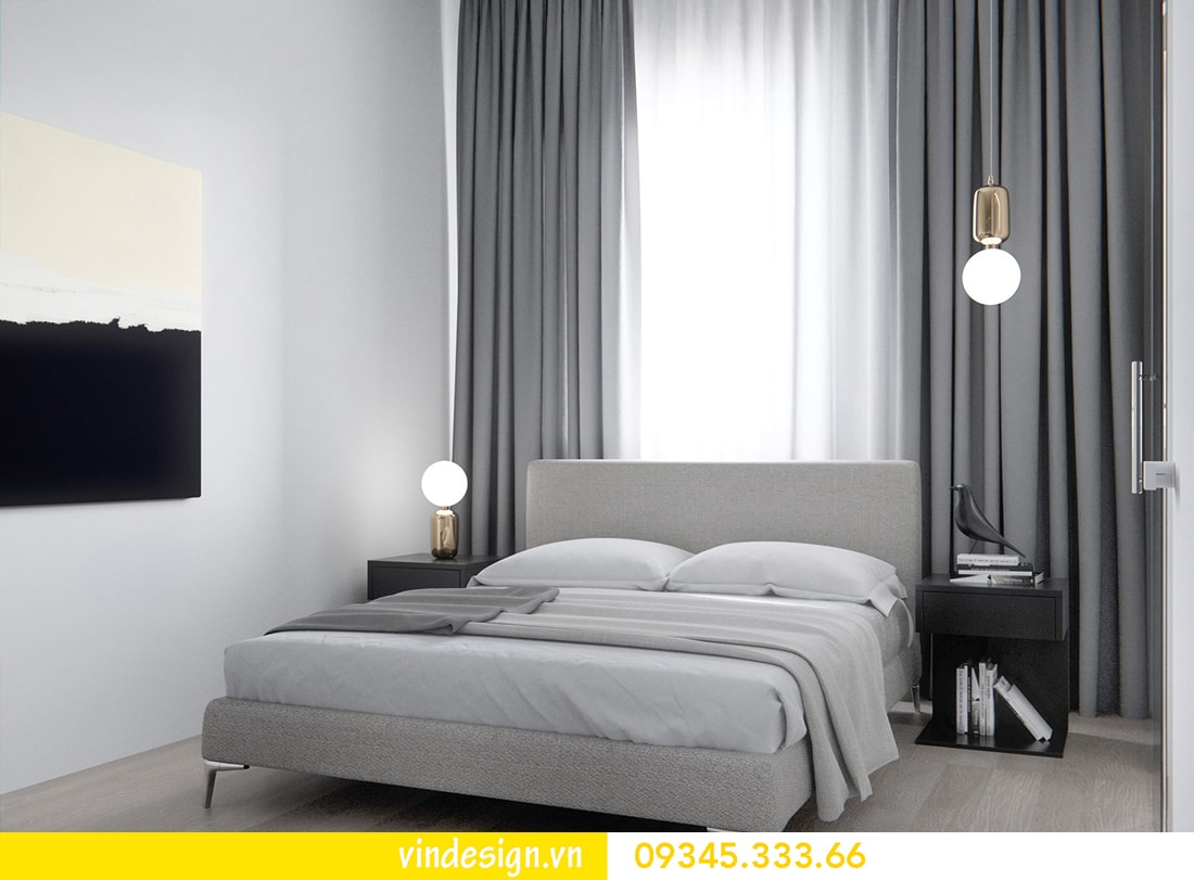 thiết kế nội thất căn 1 phòng ngủ vinhomes metropolis liễu giai ba đình 04
