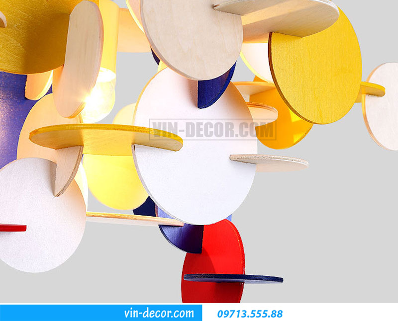 đèn phòng ngủ decor sắc màu 02