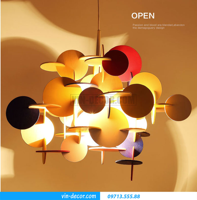 đèn phòng ngủ decor sắc màu 03