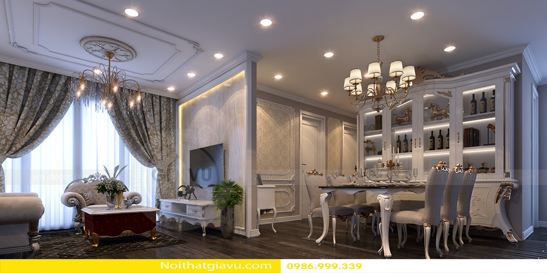 đơn vị thiết kế thi công nội thất chuyên nghiệp tại Hà Nội 03