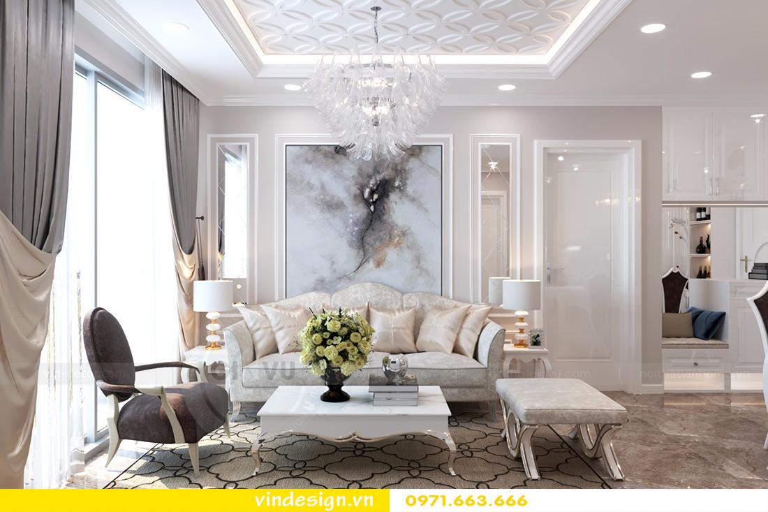 thiết kế phòng khách đẹp Vinhomes D'Capitale 02