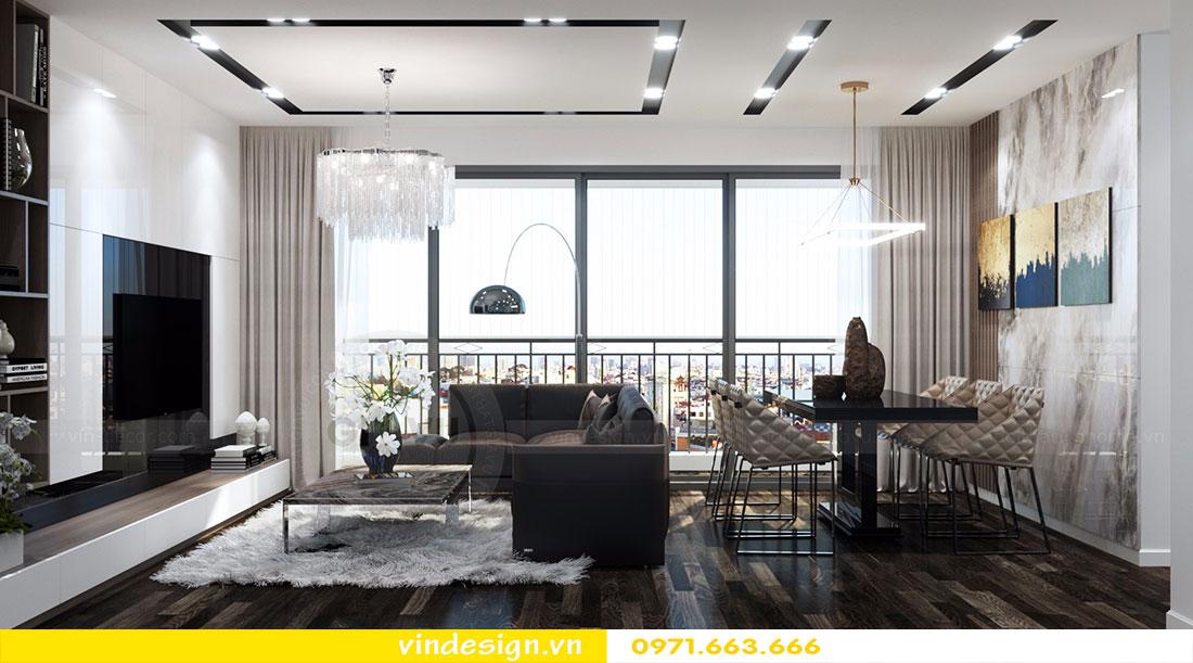 thiết kế phòng khách đẹp Vinhomes D'Capitale 05
