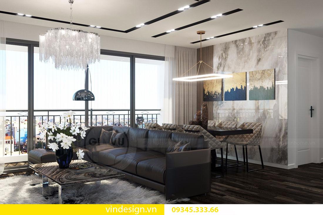 thiết kế phòng khách đẹp Vinhomes D'Capitale 06