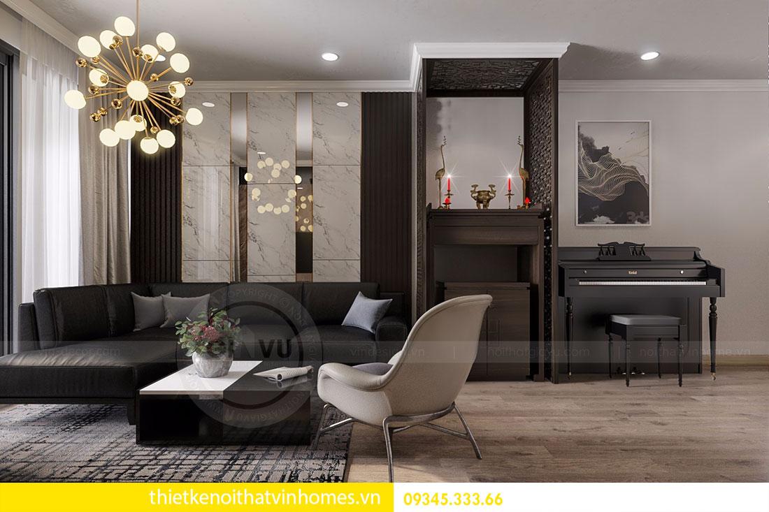 Nội thất chung cư Vinhomes Gardenia căn 03 tòa A1 view 4