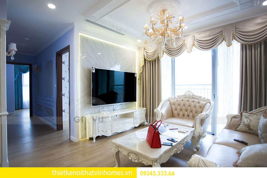 Thi công nội thất chung cư DCapitale theo phong cách tân cổ điển 5