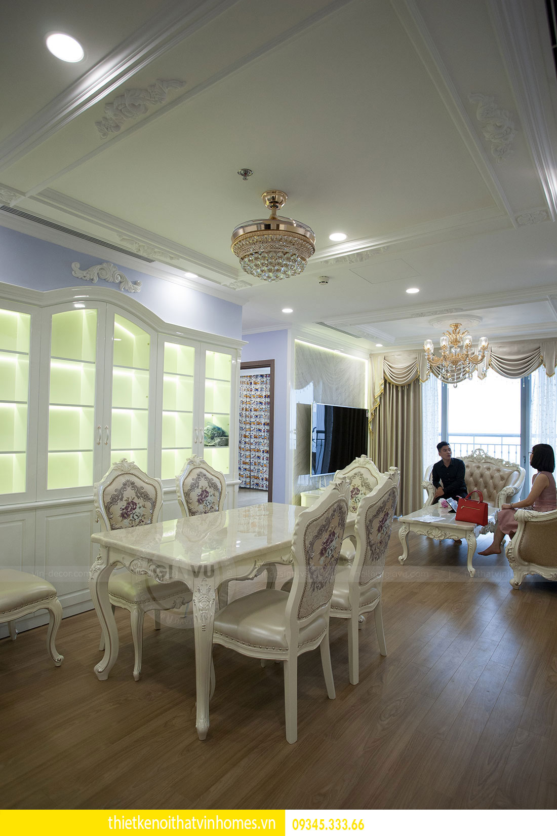 Thi công nội thất chung cư DCapitale theo phong cách tân cổ điển 7