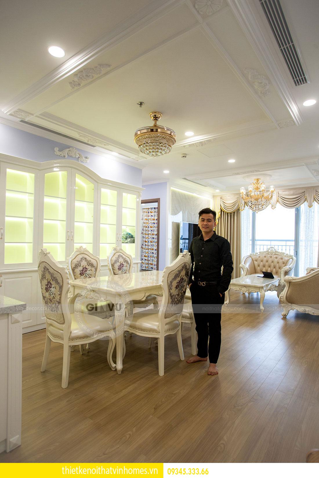 Thi công nội thất chung cư DCapitale theo phong cách tân cổ điển 8