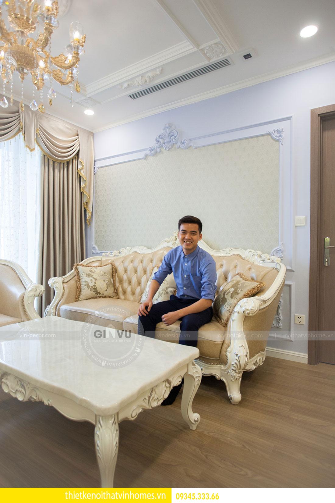 Thi công nội thất chung cư DCapitale theo phong cách tân cổ điển 9