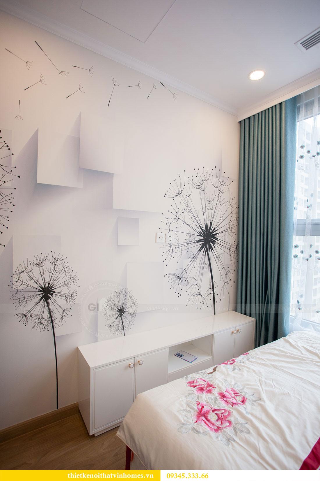 Hoàn thiện nội thất chung cư Dcapitale căn 2 phòng ngủ 15