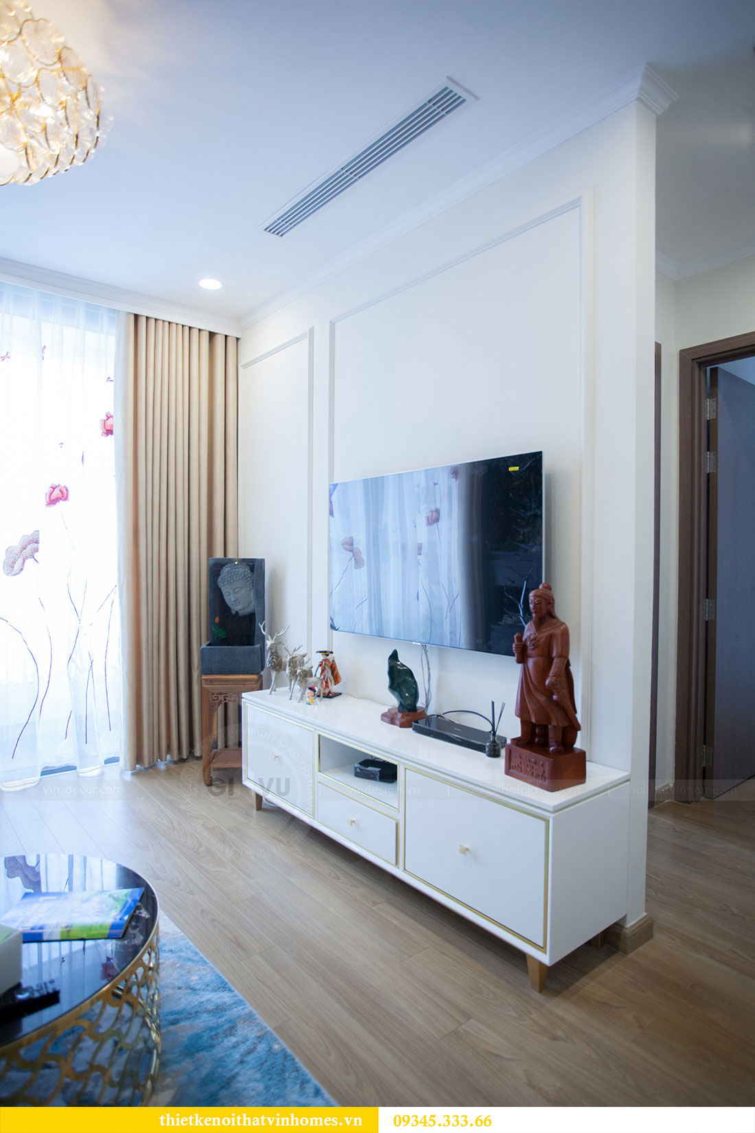 Hoàn thiện nội thất chung cư Dcapitale căn 2 phòng ngủ 5