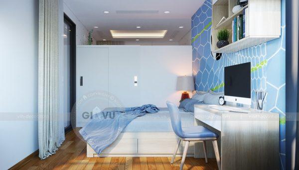 Thiết kế nội thất căn hộ chung cư Mandarin Garden Hoàng Minh Giám 13