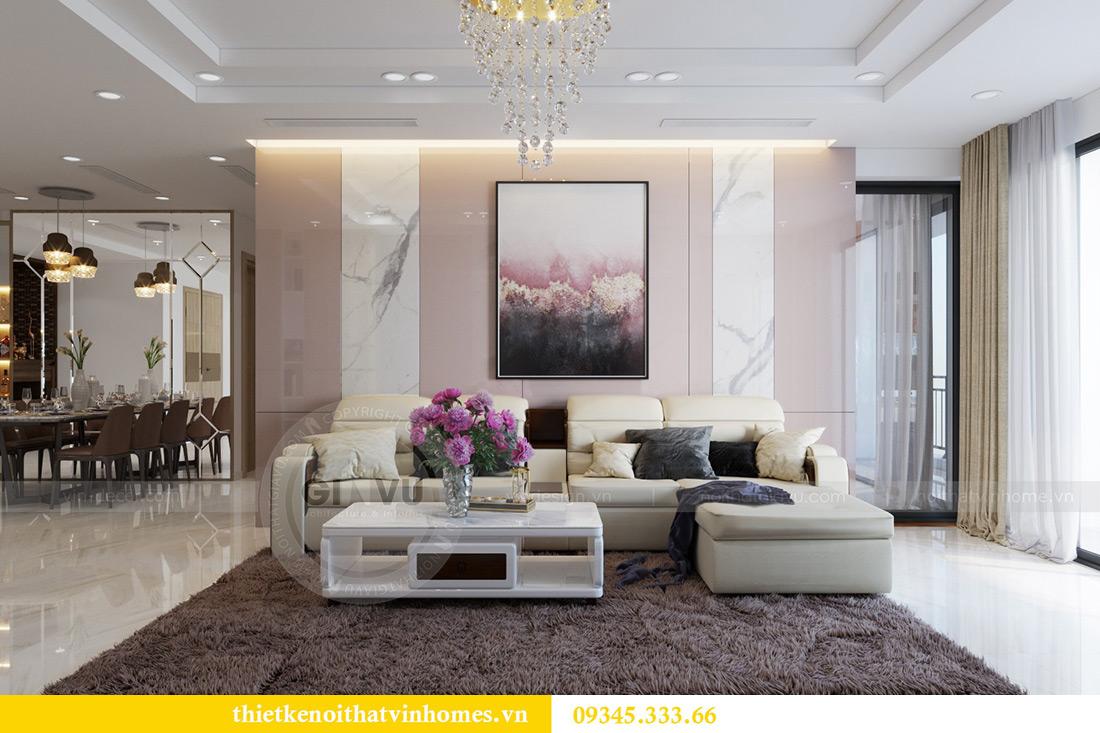Thiết kế nội thất căn hộ chung cư Mandarin Garden Hoàng Minh Giám 2