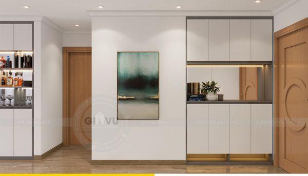 Thiết kế nội thất Vinhomes Sky Lake Phạm Hùng căn 2 ngủ 1