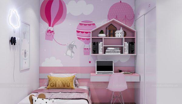 Thiết kế nội thất Vinhomes Sky Lake Phạm Hùng căn 2 ngủ 10