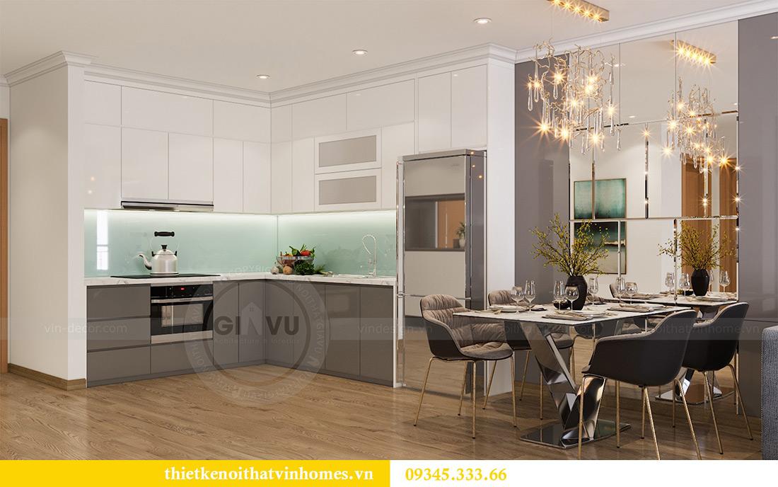 Thiết kế nội thất Vinhomes Sky Lake Phạm Hùng căn 2 ngủ 2