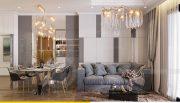 Thiết kế nội thất Vinhomes Sky Lake Phạm Hùng căn 2 ngủ 3