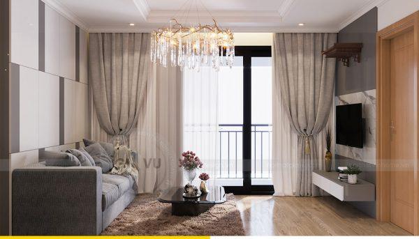 Thiết kế nội thất Vinhomes Sky Lake Phạm Hùng căn 2 ngủ 4