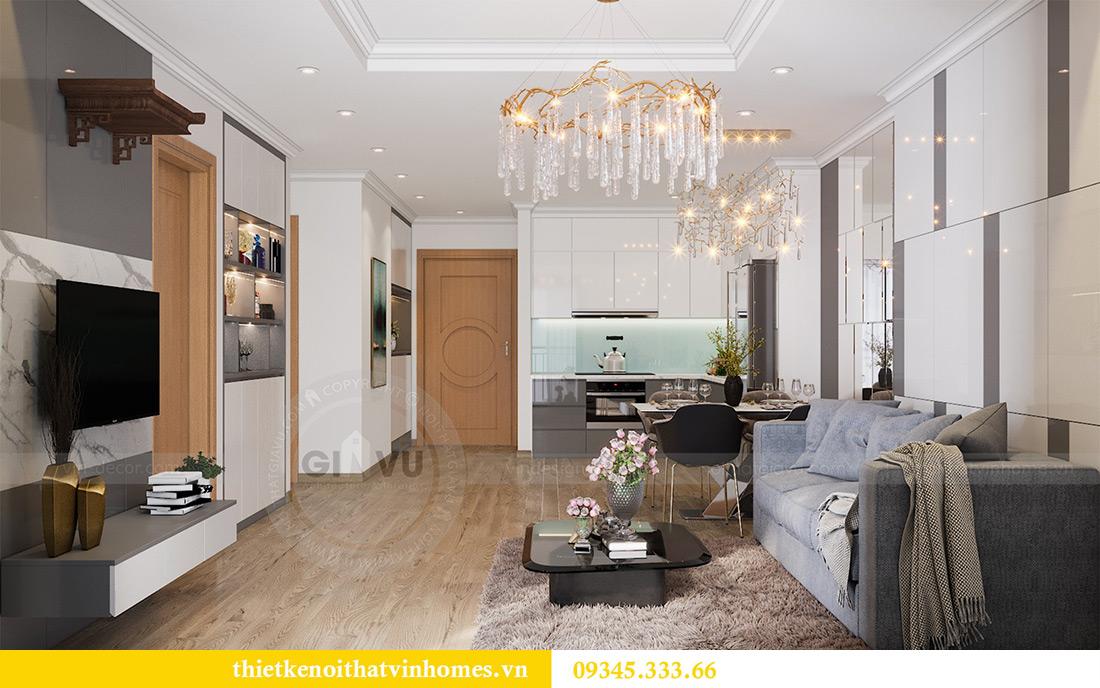 Thiết kế nội thất Vinhomes Sky Lake Phạm Hùng căn 2 ngủ 6