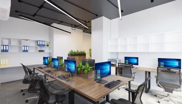Ý tưởng thiết kế nội thất văn phòng chung cư Mễ Trì 2019 3