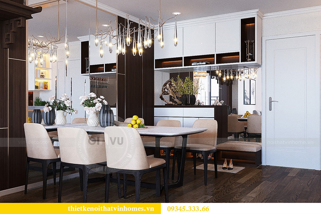 Thiết kế nội thất căn hộ chung cư Green Bay Mễ Trì nhà anh Hưởng 2