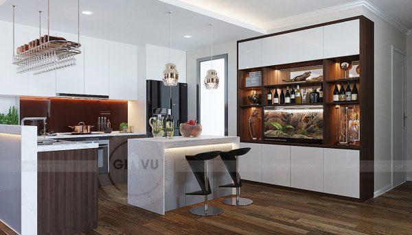 Thiết kế nội thất căn hộ chung cư Green Bay Mễ Trì nhà anh Hưởng 3
