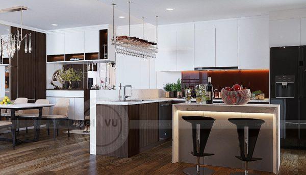 Thiết kế nội thất căn hộ chung cư Green Bay Mễ Trì nhà anh Hưởng 4