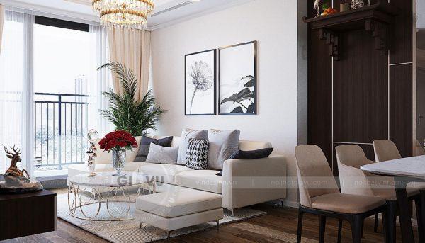 Thiết kế nội thất căn hộ chung cư Green Bay Mễ Trì nhà anh Hưởng 5