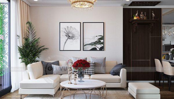 Thiết kế nội thất căn hộ chung cư Green Bay Mễ Trì nhà anh Hưởng 6