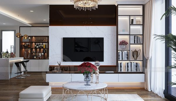 Thiết kế nội thất căn hộ chung cư Green Bay Mễ Trì nhà anh Hưởng 7