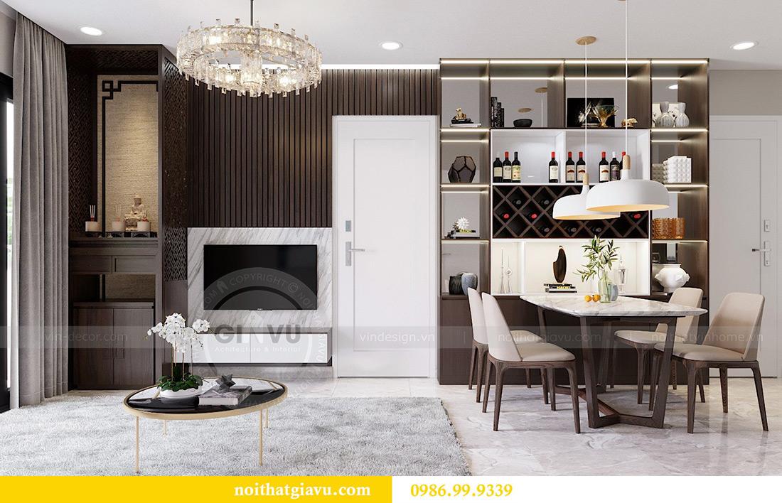 Thiết kế nội thất Vinhomes Dcapitale tòa C1 căn 07 cô Quý 1