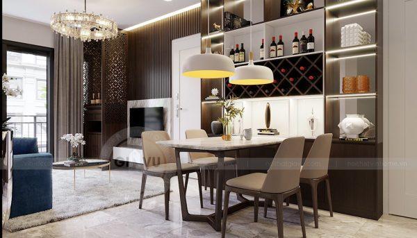 Thiết kế nội thất Vinhomes Dcapitale tòa C1 căn 07 cô Quý 3